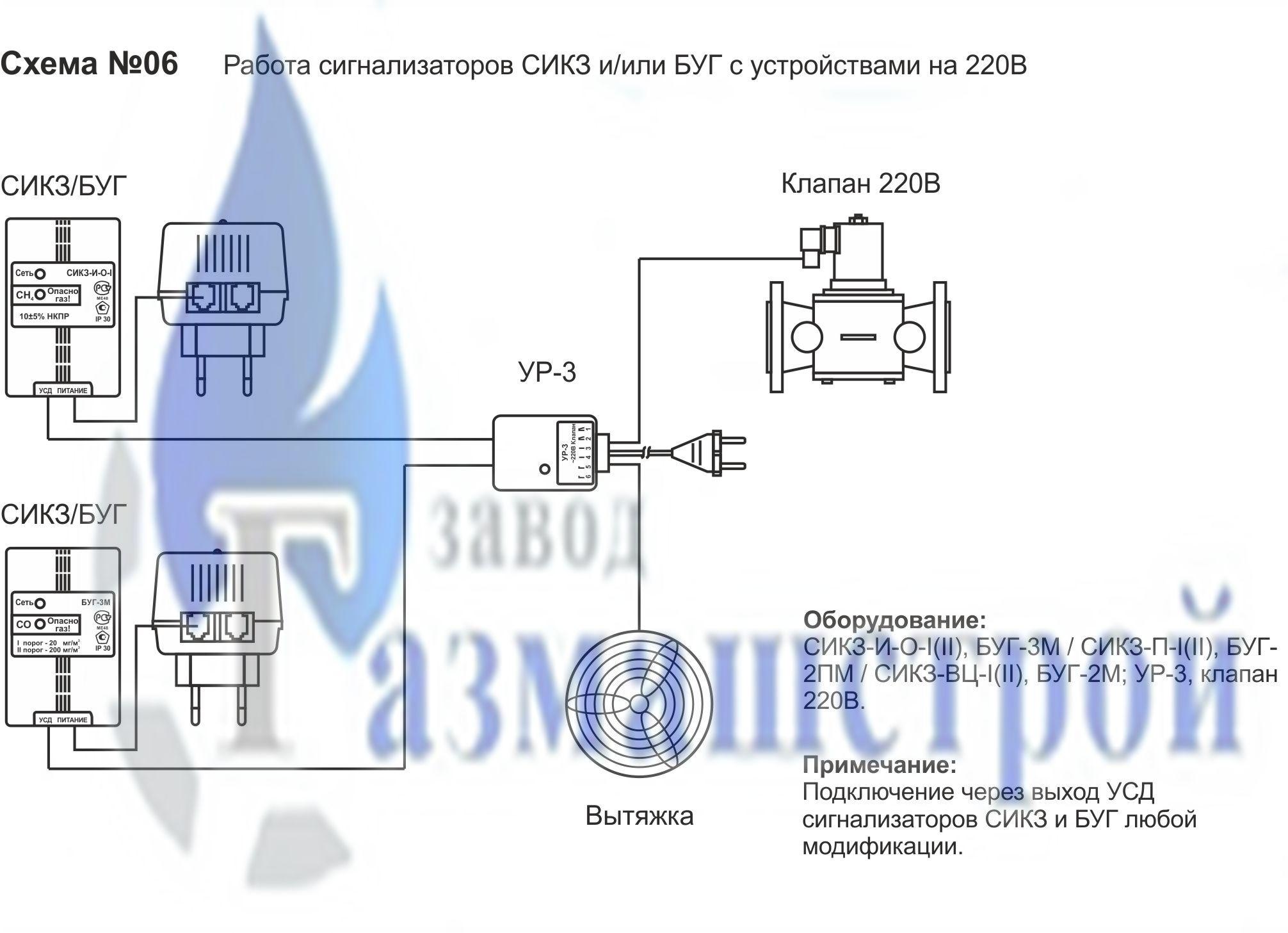 Буг сигнализатор схема